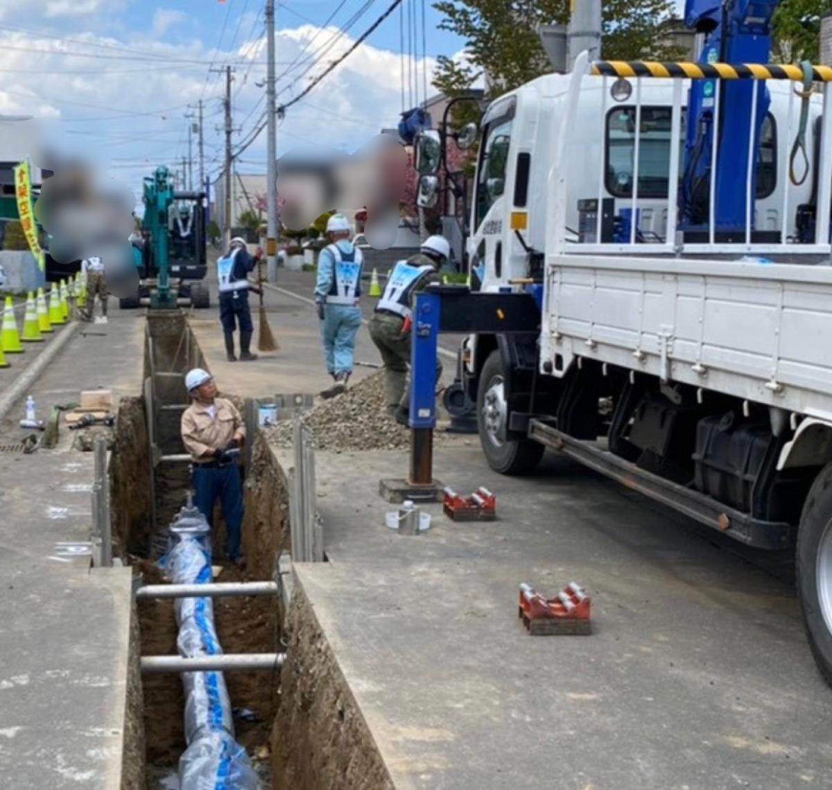 北区屯田地区配水管整備工事(改良)・施工状況(2)